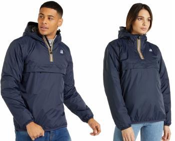 K-Way Le Vrai 3.0 Leon Padded Anorak Pull-On Jacket, L Blue Depht
