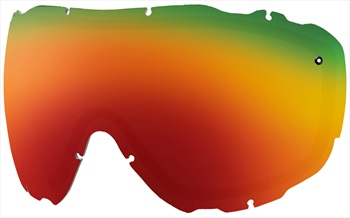 Smith Prophecy Turbo Fan Snow/Ski Goggle Spare Lens, Red Sol-X