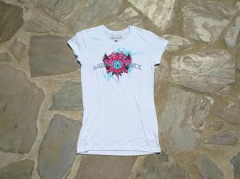 Liquid Force Starburst Knit Shield Ladies T Shirt, Small, White