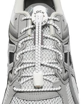 Lock Laces No-Tie Replacement Elastic Shoelaces, White