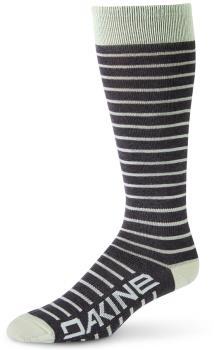 Dakine Women's Thinline Ski/Snowboard Socks, M/L Green Lily/Charcoal
