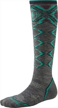 Smartwool Women's PHD Ski Light Ski Socks, L Medium Grey