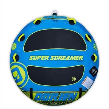 O'Brien Super Screamer Towable Inflatable Deck Tube, 2 Rider Blue 2021