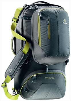 deuter Transit 50 Travel Holdall + Backpack 50L+ Anthracite Moss