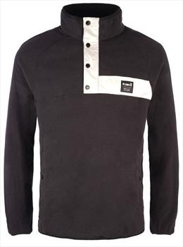 Planks Peace Fleece Unisex Pullover Jacket, L Black