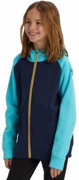 Burton Crown Bonded Kid's Full-Zip Hoodie, M Dress Blue/Curaca