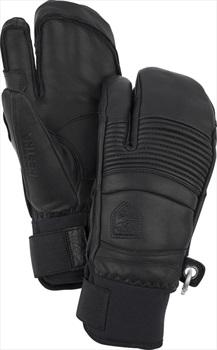 Hestra Leather Fall Line 3 Finger Ski/Snowboard Gloves, XL Black