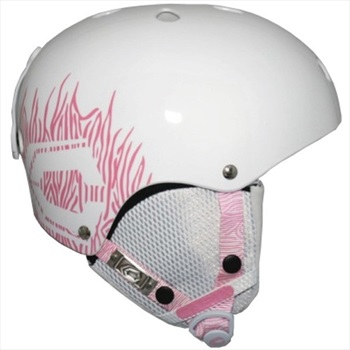 Capix Dynasty Women's Skate/Bike Helmet, L/XL, White/Pink