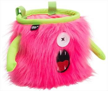 8b+ Kelly Rock Climbing Chalk Bag, Pink Fur, Green Trim