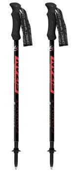 Fizan Compact Ultralight Trekking Poles, 59-132cm Red