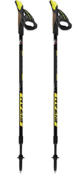 Fizan NW Speed Adjustable Nordic Walking Poles, 75-125cm Yellow
