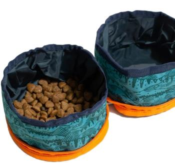 United By Blue Collapsible/Portable Dog Food/Water Bowls Fresh Catch