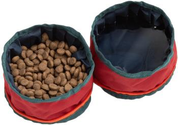 United By Blue Collapsible/Portable Dog Food/Water Bowls, Crimson