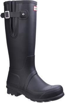 Hunter Original Side Adjustable Wellington Boot, UK 8 Black