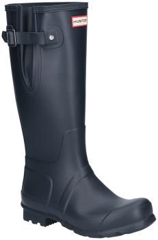 Hunter Original Side Adjustable Wellington Boot, UK 10 Navy