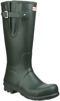 Hunter Original Side Adjustable Wellington Boot, UK 10 Dark Olive