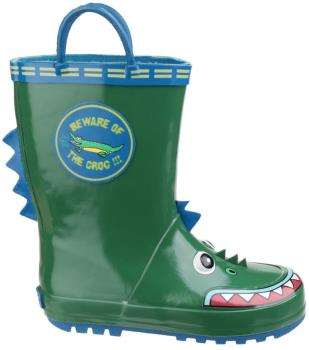 Cotswold Puddle Kids' Wellington Boots, UK Child 9 Crocodile