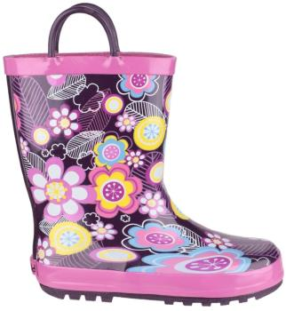 Cotswold Puddle Kids' Wellington Boots, UK Child 8.5 Flower