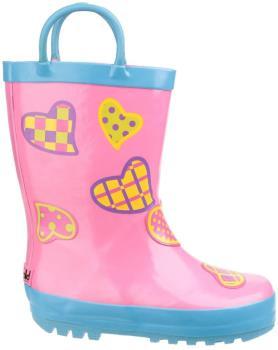 Cotswold Puddle Kids' Wellington Boots, UK Child 12 Hearts