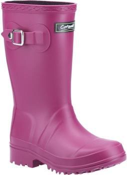 Cotswold Buckingham Kids' Wellington Boots, UK Child 10.5 Berry