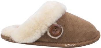 Cotswold Lechlade Sheepskin Women's Mule Slippers, UK 3 Chesnutt