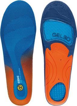 Sidas Cushioning Gel 3D Boot/Shoe Insoles, XS Blue/Orange