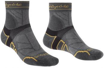 Bridgedale Trail Run Lightweight T2 Merino Running Socks, M Gunmetal