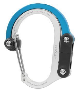 Heroclip Medium Gear Clip Carabiner Gear Tidy, M Blue Steel