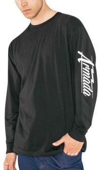 Armada Cipher Long Sleeve T-Shirt, S Black