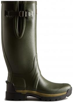 Hunter Balmoral Side Adjustable Wellington Boot, UK 12 Dark Olive