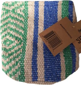 "Static Adult Unisex Traveller Series Rock Climbing Chalk Bag, 7"" Blue & Green"