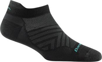 Darn Tough Run No-Show Tab Women's Running Socks, M Black
