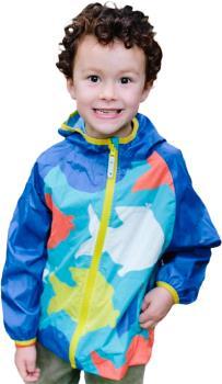Muddy Puddles Ecolight Kids Waterproof Jacket, 4-5yrs Blue Fish
