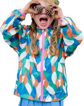 Muddy Puddles Ecolight Kids Waterproof Jacket, 5-6yrs Multi Abstract