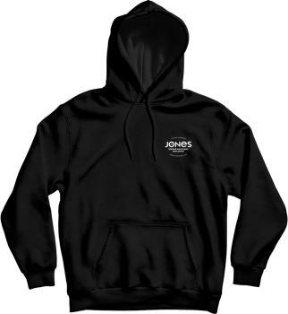 Jones Riding Free Organic Cotton Pull Over Hoodie, M Black
