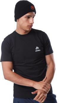 Jones Truckee Organic Cotton Plain Short Sleeve T-Shirt, M Black