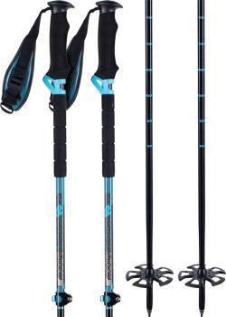 K2 Lockjaw Carbon Touring Ski Poles, Adjustable 105-145cm Blue/Black