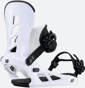 K2 Sonic Snowboard Bindings, L White 2021