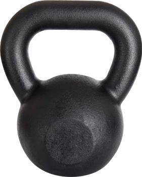 Iron Strength Cast Iron Kettlebell Weight Training, 6kg Black