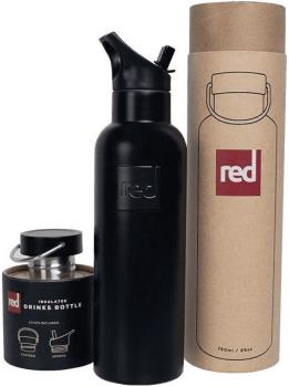 Red Original Insulated Water Bottle Vacuum Thermal Flask, Black
