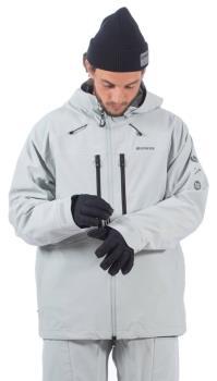 Bonfire Apex Polartec Neoshell 3L Ski/Snowboard Jacket, S Lt Grey