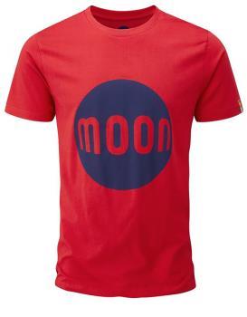 Moon Logo T-Shirt Rock Climbing Tee, M True Red