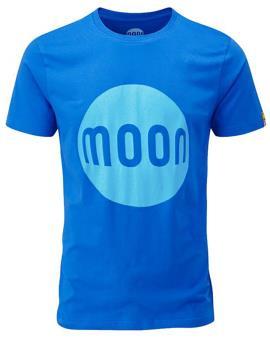 Moon Logo T-Shirt Rock Climbing Tee, S Skydiver
