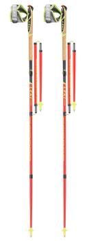 Leki Micro Trail Pro Compact Trail Running Poles, 115cm Red