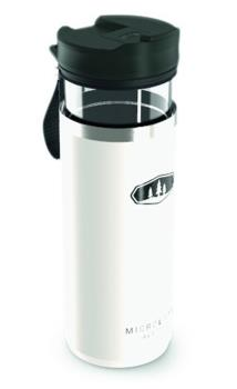 GSI Outdoors Microlite Javapress French Press Travel Mug, White