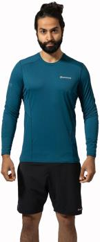 Montane Sabre Technical Base Layer Top, XL Narwhal Blue