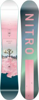 Nitro Mercy Womens Positive Camber Snowboard, 146cm 2021