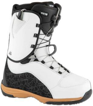 Nitro Futura TLS Women's Snowboard Boots, UK 7 White/Black/Gum 2021