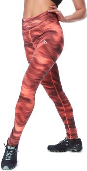 Odlo Essential Soft Print Women's Running Leggings, UK 4-6 Siesta