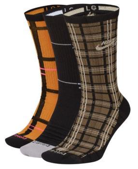 Nike SB Adult Unisex 3pk Everyday Max Lightweight Crew Socks, L Multipack